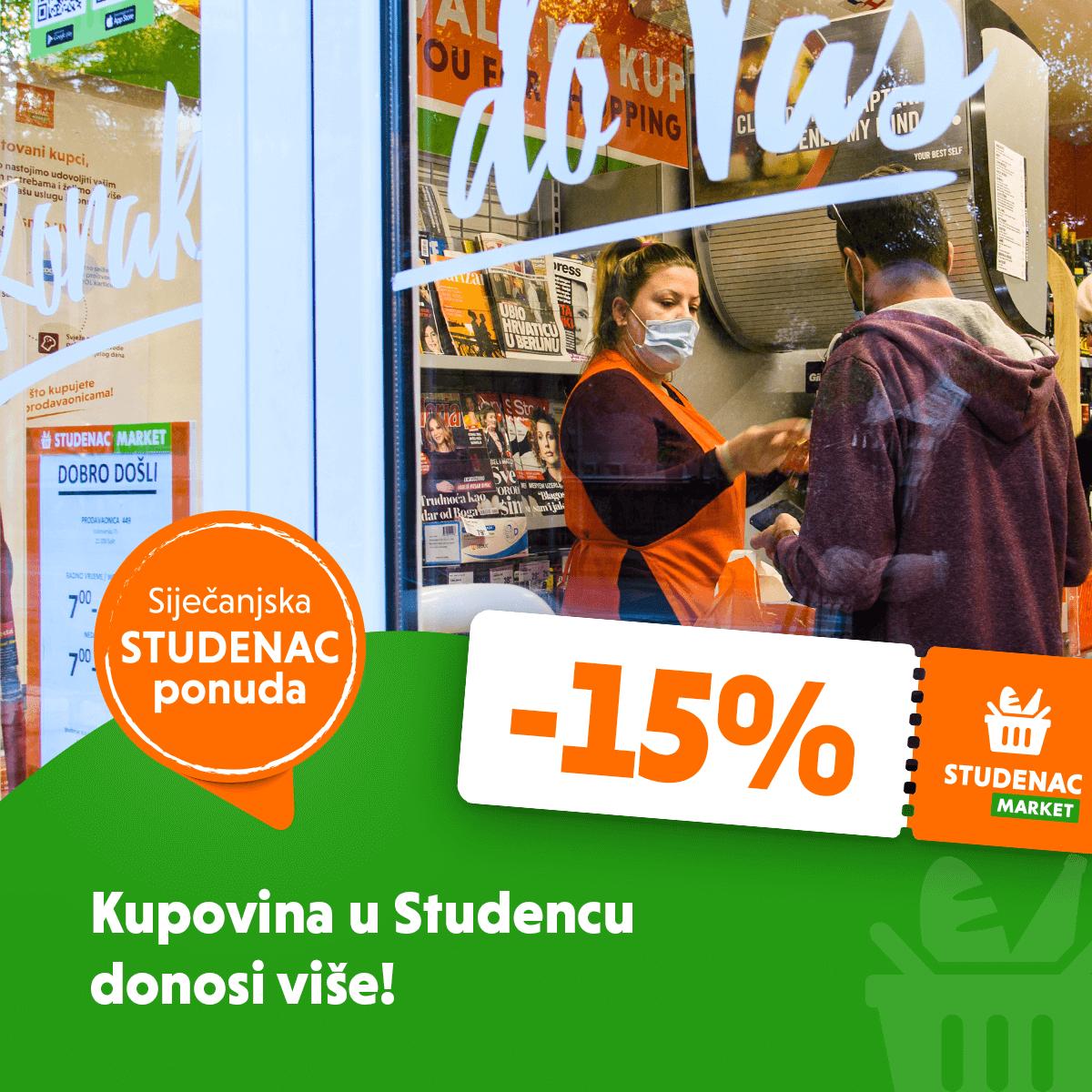 Kupovina u Studencu donosi više!